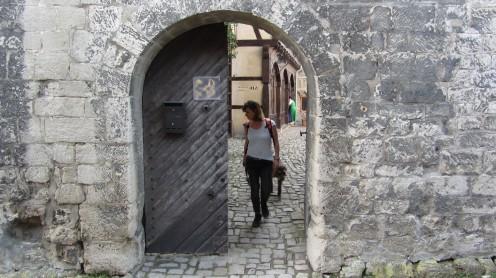 Eingang Rudelsburg