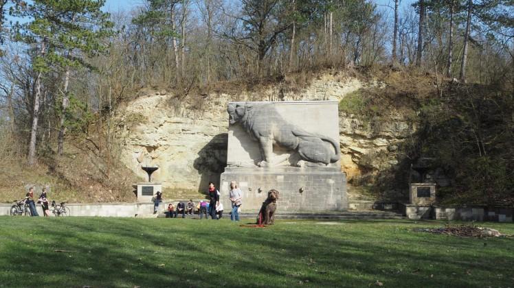 Löwendenkmal Rudelsburg
