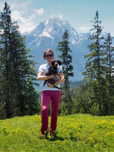 BlogDog Pippa mit Mama und Watzmann