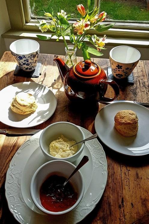 Cream Tea zur Begrüßung ...