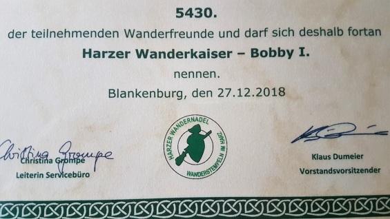 Harzer Wanderkaiser Bobby I