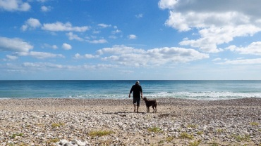 ... Strand von Swanage auf Purbeck Island