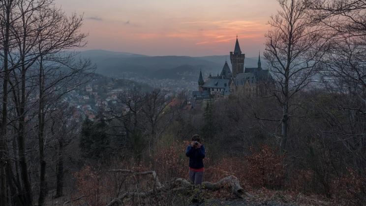 Sonnenuntergang Schloss Wernigerode (4)